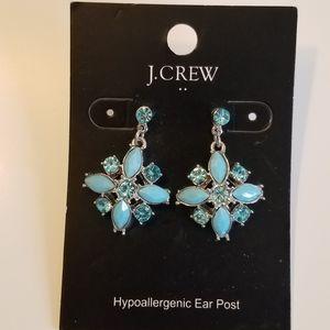 NWT J.Crew Turquoise hypoallergenic earrings